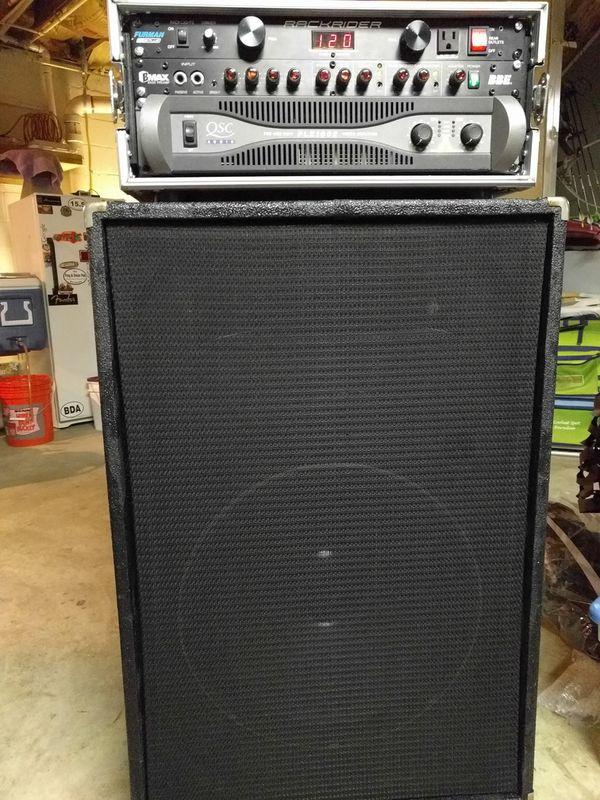 """Bass speaker cabinet 18"""" Black Widow w/horn"""