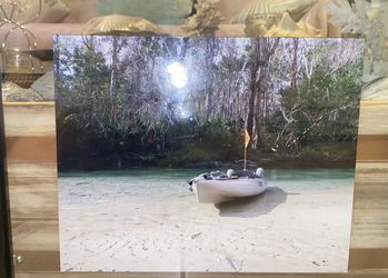 """Canoe Photography Frame Art Home Decor In black wooden Frame 15""""L by 12"""" for Sale in Spartanburg,  SC"""