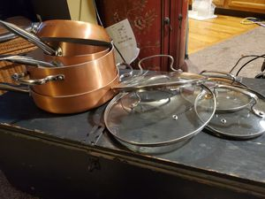 Copper pots and pans for Sale in Westminster, CO
