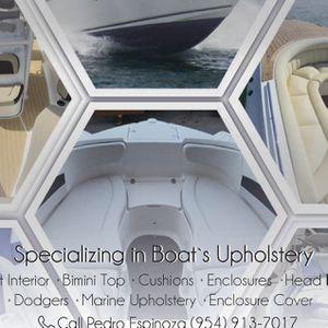 Specializing In Boat's Upholstery for Sale in Pompano Beach, FL