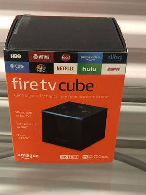 Fire tv cube 4K HDR for Sale in Smyrna, GA