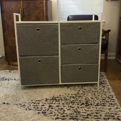 Linen Dresser - With Metal Frame And Wood Top for Sale in Arlington,  VA