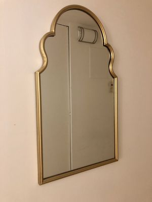 Gold arched wall mirror for Sale in New York, NY