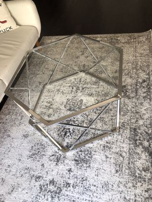 Silver metal coffee table for Sale in Washington, DC