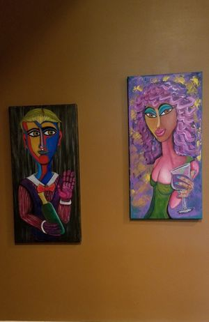 Original Painting Hector & Ophelia abstract modern wall art for Sale in Macomb, MI