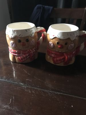 Xmas coffee cups and few ornaments for Sale in Suffolk, VA
