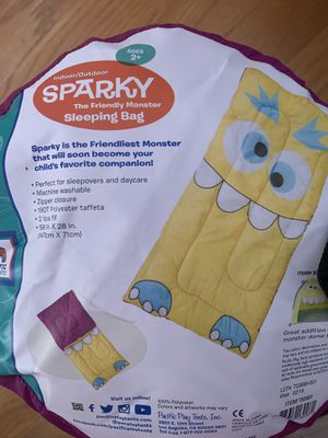 Pacific Play Tents Sparky the Friendly Monster Sleeping Bag for Sale in Franklin Park, IL