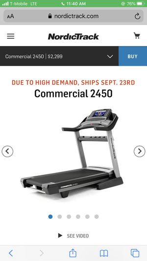 Treadmill - Used very little same as pic for Sale in Brooklyn, NY