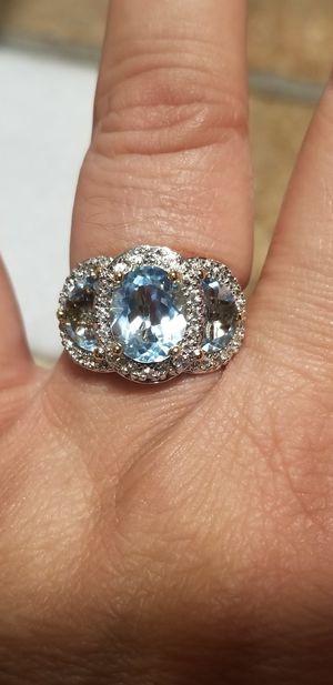 GENUINE 4.60 TOPAZ WITH DIAMONDS RING for Sale in Fairfax, VA