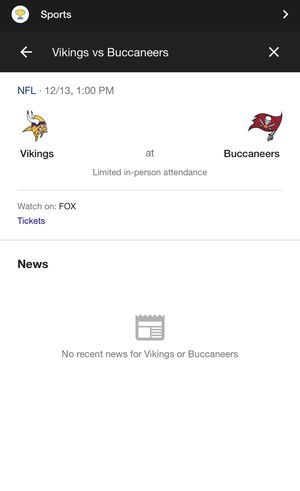 4 tickets to Tampa bay buccaneers vs. Minnesota Vikings 12/13 for Sale in Spring Hill, FL