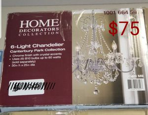 Home Decorators Collection 6-Light Chrome Crystal Chandelier for Sale in North Las Vegas, NV