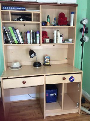 Desk + night stand for Sale in Silver Spring, MD