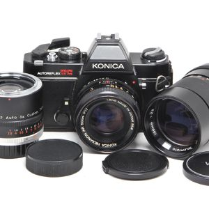 Konica 35mm Film Camera w/3 Lenses for Sale in Hollywood, FL