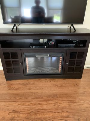 TV Stand with Electric Fireplace for Sale in Rolling Meadows, IL