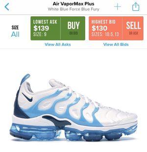 Worn Men's Nike Air VaporMax Plus Size 9 for Sale in Philadelphia, PA