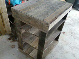 Rustic wood shelf