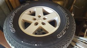 "17"" Jeep Wrangler Factory Wheels OEM Rims And Tires SET 5 for Sale in Carol City, FL"