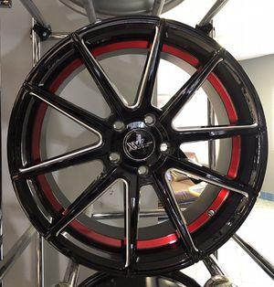 "BLOWOUT SALE! New 18"" Gloss Black Red Pinstripe XXV Alloy Wheels Rims 5x4.5 18x8 Honda Toyota Nissan for Sale in Tampa, FL"