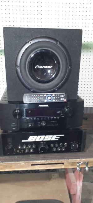 """10"""" sub- reciever-amp- best of the best need the room must sell send me your offers for Sale in Phoenix, AZ"""
