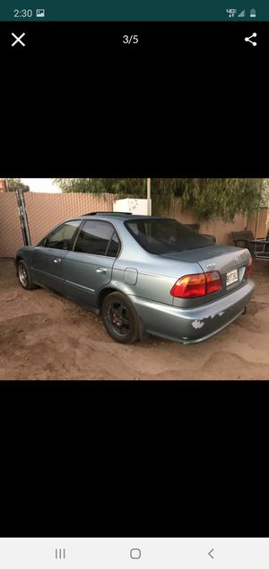 99 Honda Civic .. rebuild engine runs great no more then 1k miles on it ... salvage title due to theft no accidents! Or trade for truck for Sale in Nuevo, CA