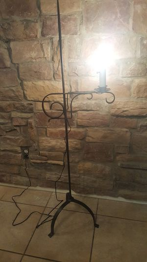 Rod iron candle floor lamp for Sale in Chandler, AZ