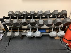 Dumbbell Set and Rack for Sale in Lemont, IL