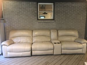 Reclining Electric Leather Couch for Sale in Smyrna, TN