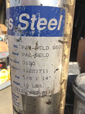 "Stainless Steel welding rods for Arc Welder 1/8"" for Dissimilar metals Pac-Weld 9800 for Sale in Covina, CA"