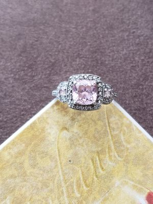 Pink sapphire CZ diamond ring for Sale in Peoria, IL