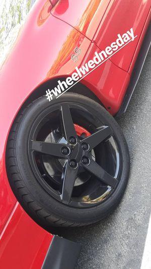 Trade wheels? Black Corvette rims for Sale in Silverado, CA