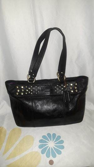 Vintage Coach Black W/ Gold Studs Purse for Sale in Detroit, MI