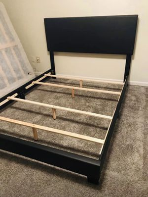 Brand new queen size espresso bed frame for Sale in Atlanta, GA