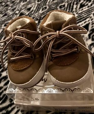 MAYORAL BABY BOY BROWN LACE-UP SOFT CRIB SHOE SIZE 16(2-5Mo). NIB for Sale in Houston, TX