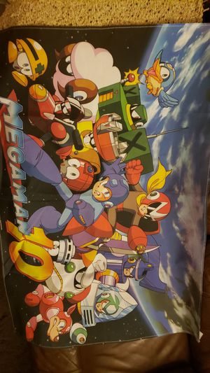 Mega man 10 cloth poster/wall scroll for Sale in West Hollywood, CA