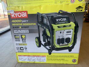 RYOBI 4000-Watt Gasoline Powered Digital Inverter Generator for Sale in Silver Spring, MD