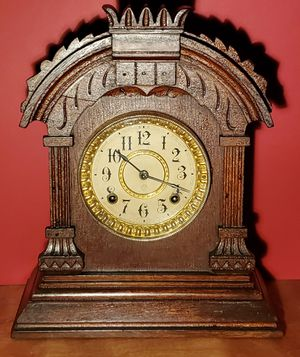 Antique Ansonia Wood Mantle Clock for Sale in Hightstown, NJ