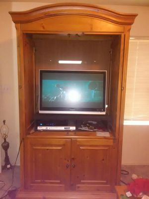 Solid oak entertainment center for Sale in Twin Lakes, ID