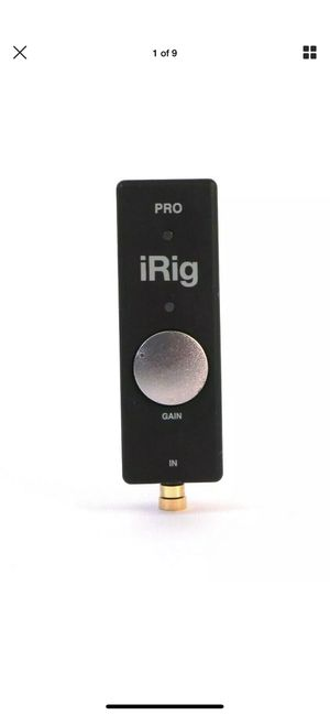 IK MULTIMEDIA IRIG PRO UNIVERSAL AUDIO/MIDI INTERFACE FOR IOS & MAC #5097 for Sale in Huntington Beach, CA