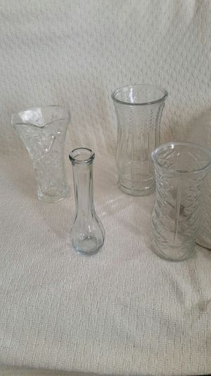 4 Vases, each between 9 & 10 inches tall. All for $10 or each for $3 for Sale in Sudley Springs, VA