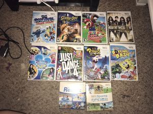 10 Wii games entire bundle $30 for Sale in Katy, TX