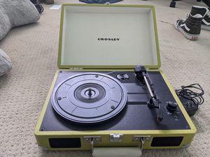 Crosley Portfolio Vintage 3-Speed Bluetooth Suitcase Turntable with Built-In Speakers, for Sale in Carlsbad, CA