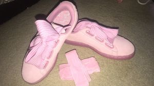 Pink Puma Suede Sneakers, Size 7 (New) $35 for Sale in Brambleton, VA