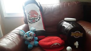 Random stuff (punching bag, Mario hat, golf ball, fnaf plushie and a home brewery Mr beer. for Sale in Oakland, CA