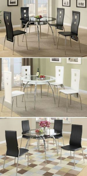 GLASS TOP DINETTE SET CHOOSE ONE FOR ONLY $275. INCLUDES DELIVERY for Sale in Orlando, FL