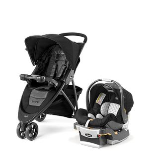 Chicco Viaro 3 Wheel Travel System Stroller w/ KeyFit 30 Car Seat Black NEW for Sale in Salinas, CA