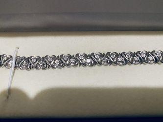 Silver Diamond Bracelet for Sale in Fontana,  CA
