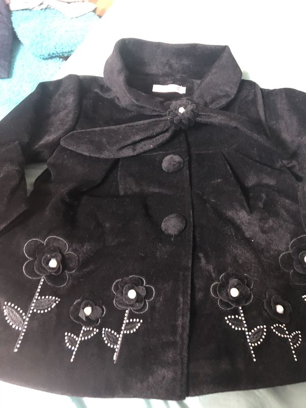 Todlar girl velvet coat