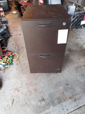 2 drawer metal filing cabinet on wheels for Sale in Anderson, SC