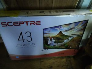 New 43 inch TV never opened or used still in box for Sale in Holts Summit, MO