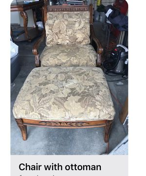Cute antique chair and ottoman for Sale in Darrington, WA